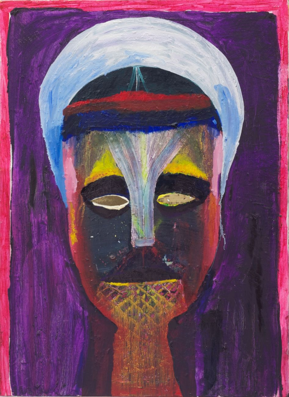 untitled ( head ) ,110 x 80 cm , oil and cardboard on canvas , 2008.jpg