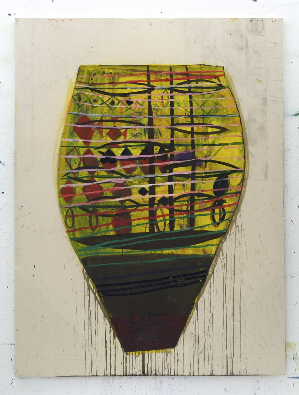 untitled ( yellow vase ) ,200 x 150 cm , acrylic and oil on canavs, 2012.jpg
